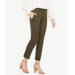 Ann Taylor The Ankle Trouser Pants in Olive Green